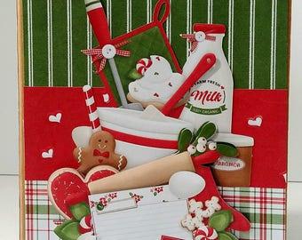 Recipe book - Mini album - Christmas mini album - Mini scrapbook - Christmas gift - Gift for mom - Gift for grandma - Christmas keepsake