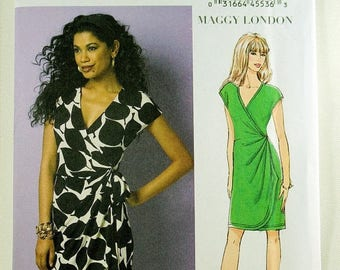 ON SALE Butterick 6054, Misses' Dress Sewing Pattern, Wrap Dress Sewing Pattern, Misses' Patterns, Easy Pattern, Misses' Size 6 to 14, Uncut