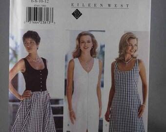 ON SALE Butterick 4540, Misses' Dress Sewing Pattern, Easy Dress Sewing, Sewing Pattern, Eileen West, Size 6, 8, 10, 12, Uncut