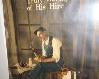 Original 1920s Advertising Poster