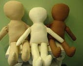 "CUSTOM ORDER for Jessica 4 Doll Bodies 15"" doll-organic cotton stuffing"