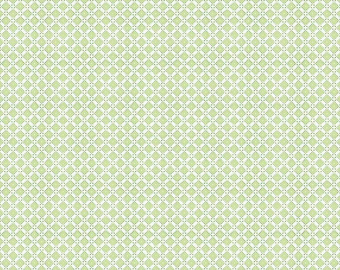 Dainty Darling Fabric by Lindsay Wilkes from The Cottage Mama for Riley Blake Designs and Penny Rose Fabrics - Green Geometric