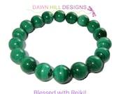 Malachite Bracelet, Green Bracelet, Crystal Healing Bracelet mala bracelet Energy Bracelet Reiki Bracelet Unisex Bracelet Gemstone Bracelet