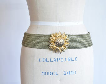 Vintage 1980s SUNFLOWER stretch belt