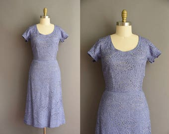 vintage 1950s rare ribbon cocktail wiggle dress by Irene dress Large 50s lavender wiggle dress