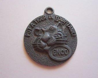 vintage key tag - Put a TIGER in Your Tank - Enco, advertising, tiger key fob- Happy Motoring Key Club