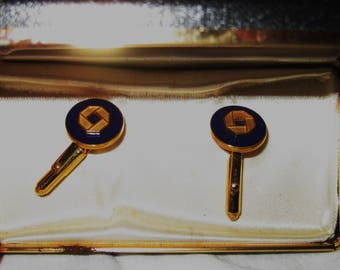 vintage cuff links in box