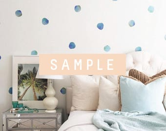 SAMPLE ** Watercolor Polka Dots-Blues