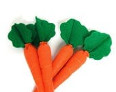 ON SALE Bunch of Carrots- set of 4