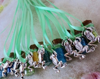 Frog Friends Party Favors Blue Green Rainforest Tree Frog Watery Frog Pixie Dust Aqua Frog Kermit Green River Frog