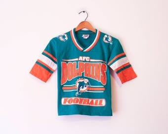 Vintage Kids Miami Florida Dolphins Football T Shirt