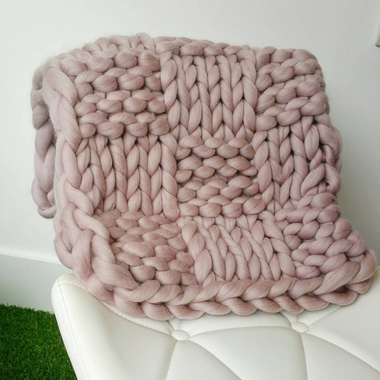 Super Bulky Dusty Pink Chunky Jumbo Yarn 500g Xxl Wool