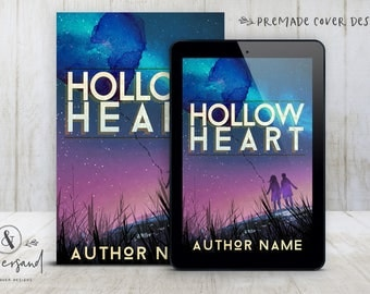 """Premade Digital Book eBook Cover Design """"Hollow Heart"""" Fiction Young New Adult YA Contemporary Romance Literary Fiction"""