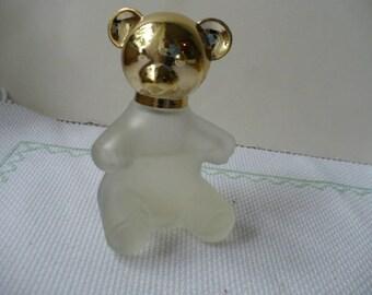 Gift For Her Flower Girl, Vintage Bear Perfume Bottle, Avon Glass Bottles, Bridesmaid Gift, Bridal Shower Gift, PioneerFundraiser