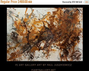 """15% OFF /ONE WEEK Only/ Huge Splash abstract by Pawel Juszkiewicz enormous pouring 48""""x34"""""""