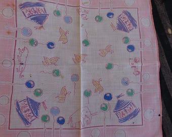 Handkerchief - Very Vintage Childs Handkerchief