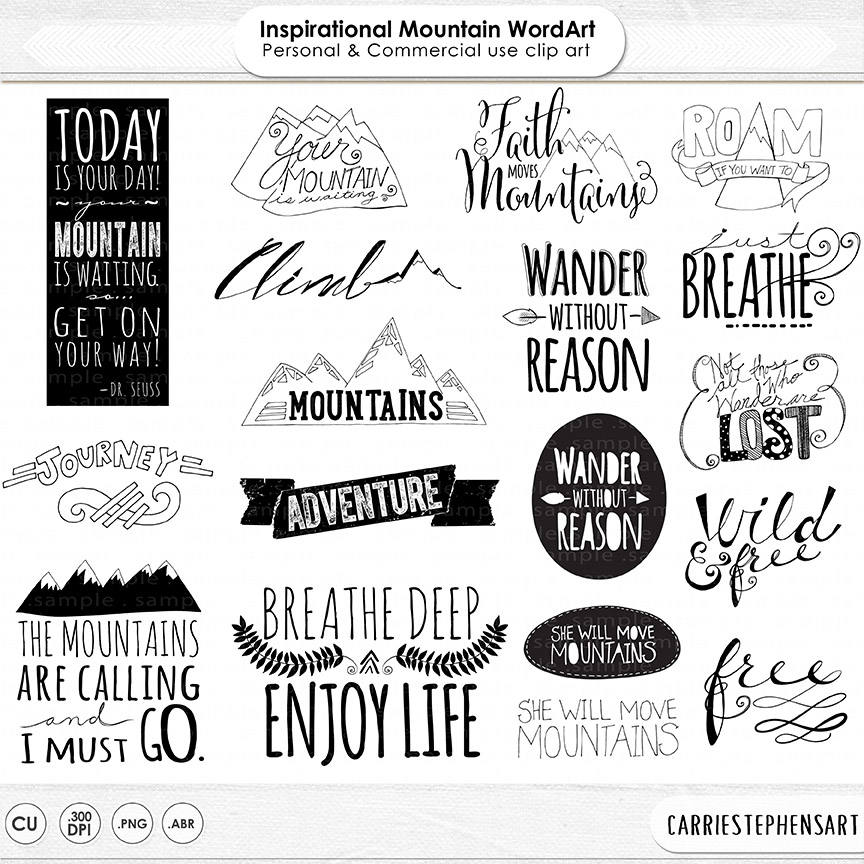 Black Boy Quotes And Page Numbers About Racism: Mountain Word Art PNG & Inspirational Quote Clip Art