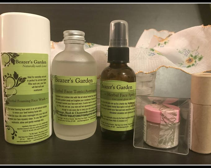 Limited Time! Herbal Face Care Giftset - Daily Natural Skincare - Organic Beauty - Sensitive Skincare - Gifts For Her - Facial Spritz Ton...