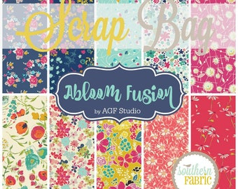 Abloom Fusion - Scrap Bag Quilt Fabric Strips by Art Gallery Fabrics