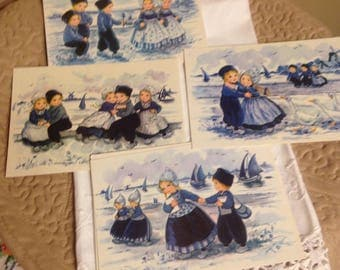 Blue and White Holland Postcards