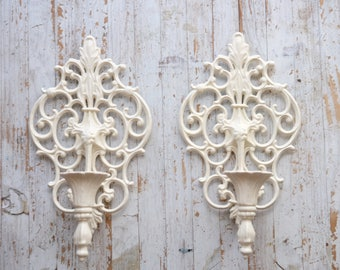 Vintage Candle Holders - Wall Mounted Set of 2