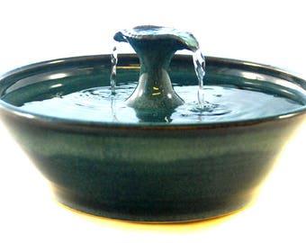"Ceramic Cat Drinking Fountain ""2 Stream"""