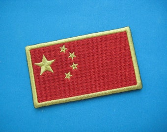 Iron-on embroidered Patch China flag 3 inch