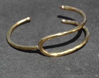 Bronze Lucky Wishbone Cuff Bracelet