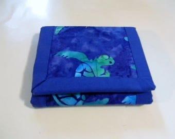 Sea Turtle Batik Trifold Wallet