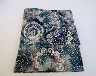 Purple Spiral Swirls Batik iPad Case
