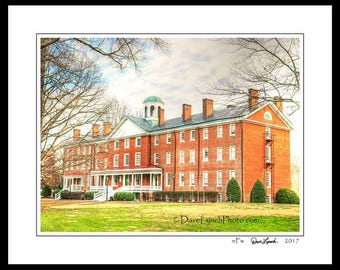 Farmville Virginia VA  - Hampden Sydney College - Venable Hall - In Color - Black & White - Sepia - Art Photography Prints by Dave Lynch
