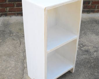 Beach Cottage Night Stand Storage Shelf 24 inches tall 12 inches wide 9 1/2 inches deep