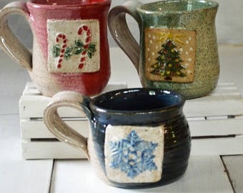 Merry Mugs, Coffee Mug, Christmas Mug, Tea