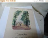 Ephemera & Books 50% Sale Vintage 1955 Dinner Menu Versailles, From France, collectable
