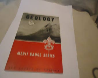 Vintage 1953 Geology Boy Scouts of America Merit Badge Series Booklet, collectable