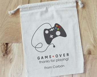 GAMER - Video Game Party - Personalized Favor Bags - Set of 10 - Birthday