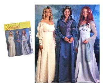 Ladies Renaissance Dress Costume Pattern Misses Size 14 16 18 20 McCall's 3797 Sewing Pattern Empire Bodice Halloween Costume Shawl Collar