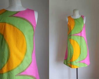 vintage 1960s marimekko dress - KAIVO mod shift dress / XS-S
