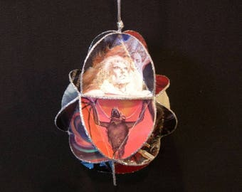 Meat Loaf Album Cover Ornament Made From Record Jackets