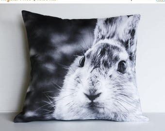 "SALE SALE SALE Rabbit cushion/ animal pillow/ kids decor/  16"" cushion/ 40cm pillow /animal cushion/ animal pillow/ kids bedroom / monochrom"