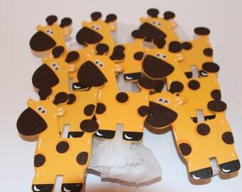 Giraffe Napkin Rings Set of 8