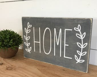 Home Sign - Housewarming Gift - Home Sweet Home - Farmhouse Decor - Rustic Home Sign - Home Decor - Cottage Sign