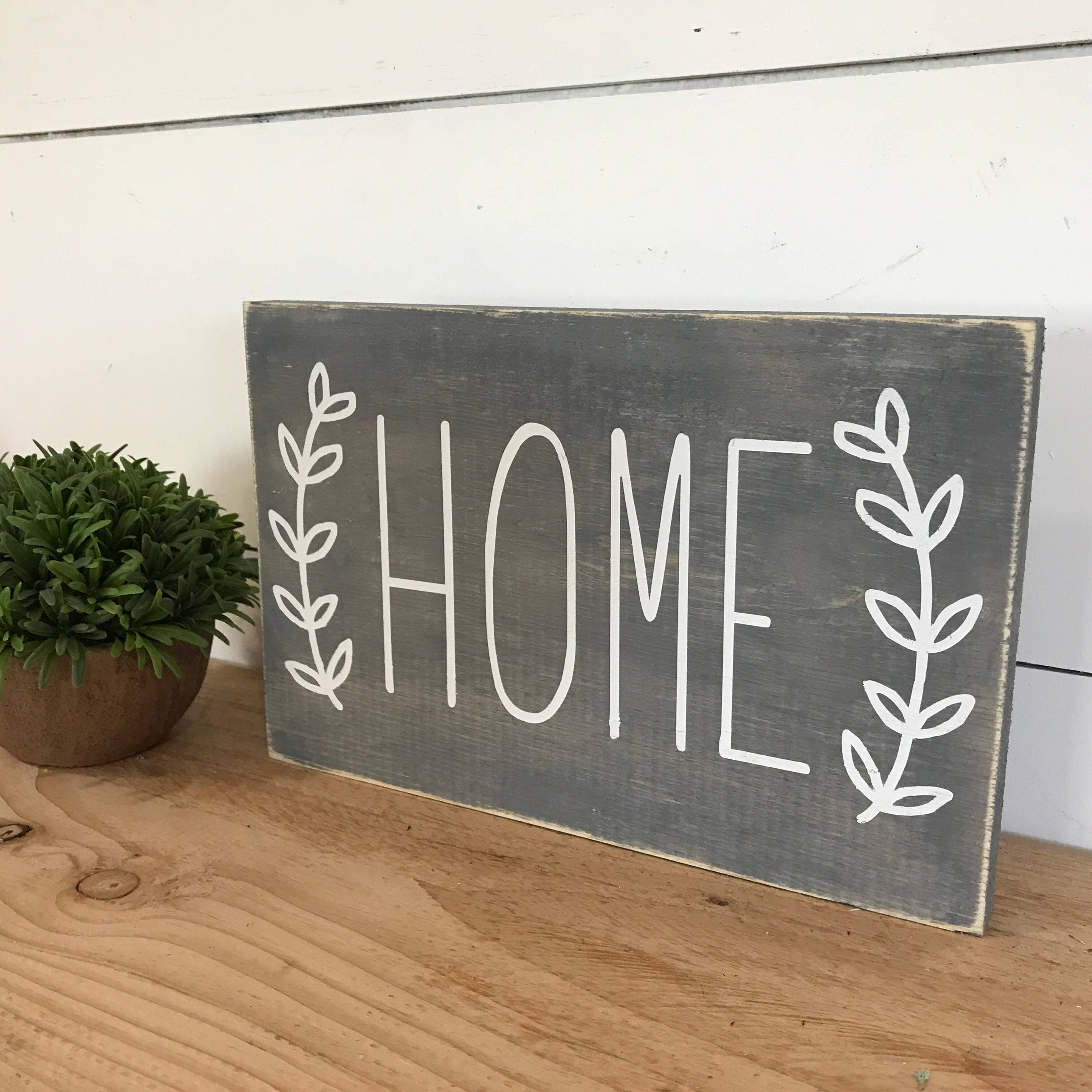 50 Farmhouse Style Gift Ideas From Etsy: Home Sign Housewarming Gift Home Sweet Home Farmhouse