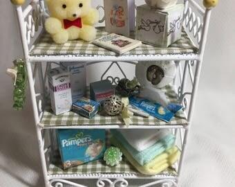 Dollshouse Miniatures - Nursery Wire Shelf - Yellow