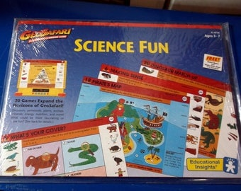 Vintage Set Geo Safari Sets Science Fun Electronic Learning Game EI-8756 ages 3 - 7 1993