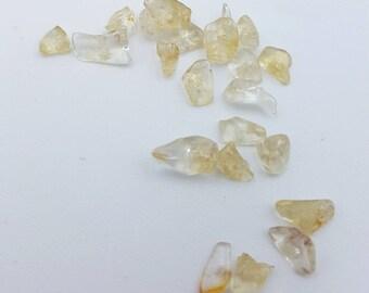 Citrine Beads, Yellow Beads, Natural Gemstone Beads, Yellow Chunk Beads, Beads for Jewelry Making, Citrine Beads, Chunk Beads, Citrine