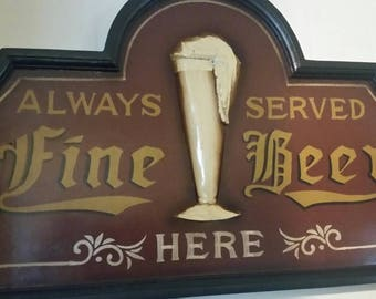 Fine Beer Sign