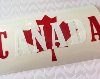 PROUDLY CANADIAN Decal/Sticker Pack (R) - Free Shipping, Canadian Stickers, Canada, Maple leaf, Canuck, Canadian Pride