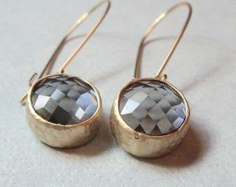 Gift Gray earrings Oval earrings Gray dangle earrings Gray drop earrings Bridesmaid earrings Bridal earrings Gift for her Wedding jewelry
