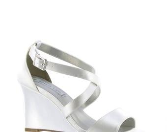 Wedge Shoe   Wedding Wedge Shoe   Custom Wedge Shoes   Dyeable Wedge Shoe    Free